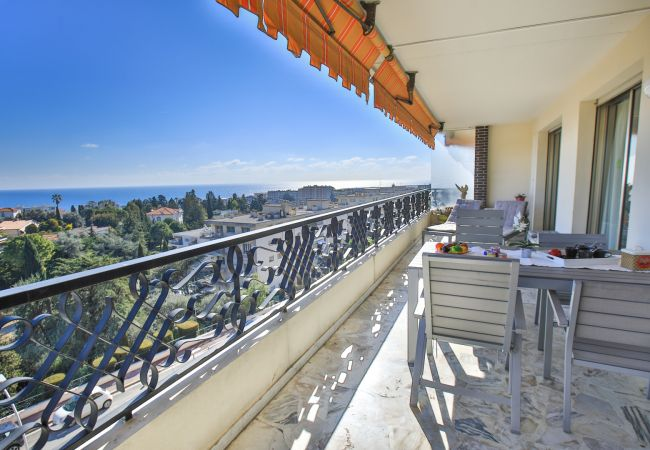 Large terrace with panoramic sea view